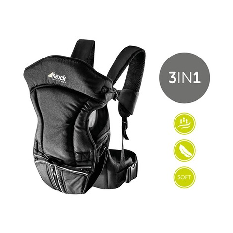HauckBabytrage 3-Way-Carrier, 3 Tragepositionen  black 4