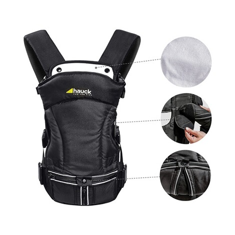 HauckBabytrage 3-Way-Carrier, 3 Tragepositionen  black 3