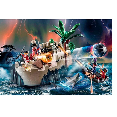 Playmobil®PIRATES70413 Rotrockbastion 3