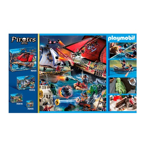 Playmobil®PIRATES70413 Rotrockbastion 5