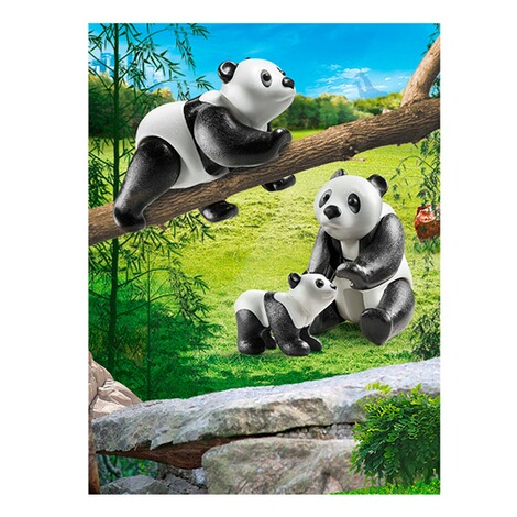 Playmobil®FAMILY FUN70353 2 Pandas mit Baby 3