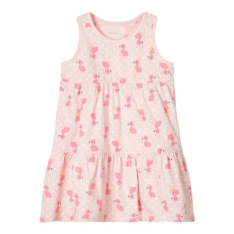 NEU 98 Flamingo Name it Mädchen Kleid NMFVIGGA Shirtkleld Gr
