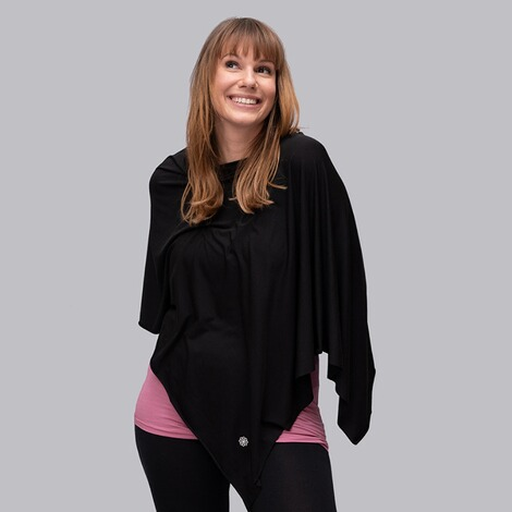 stillfashionPoncho aus TENCEL™  black 3