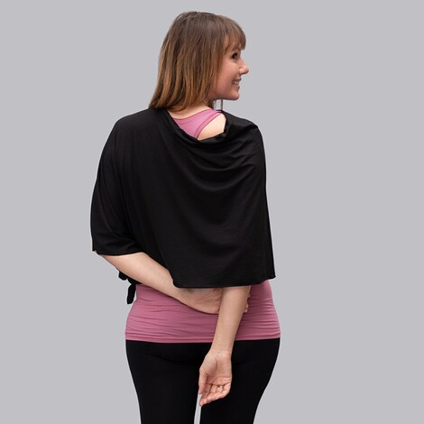 stillfashionPoncho aus TENCEL™  black 2