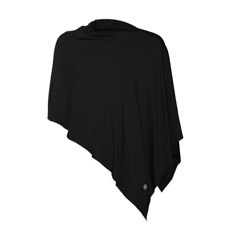 stillfashionPoncho aus TENCEL™  black 4