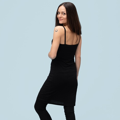 stillfashionUmstands- und Still-Top extra lang aus Tencel  black 2