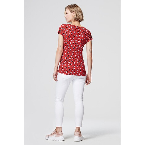 SupermomT-shirt Flower  Chinese Red 4