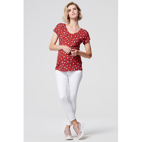SupermomT-shirt Flower  Chinese Red 7
