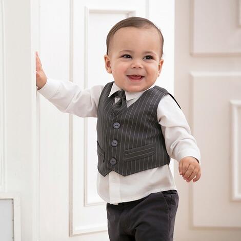 Bornino Festliche Mode 4 Tlg Set Anzug Mit Weste Hemd Hose Und Krawatte Online Kaufen Baby Walz