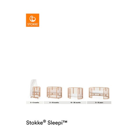 Stokke®SLEEPI™Babybett mit Matratze Sleepi Mini (0 - 6 Monate)  White 3