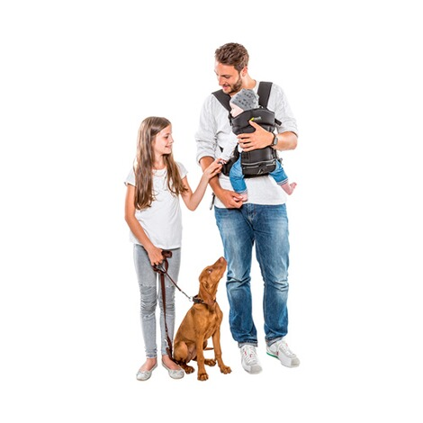 HauckBabytrage 3-Way-Carrier, 3 Tragepositionen  black 9