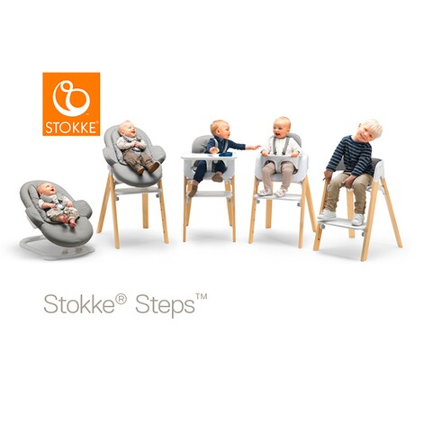 Stokke®STEPS™Babywippe Bouncer  Deep Grey / white 2