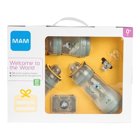 MAM5-tlg. Starter-Set Welcome to the world 160-260ml, Kunststoff  weiß/transparent 3