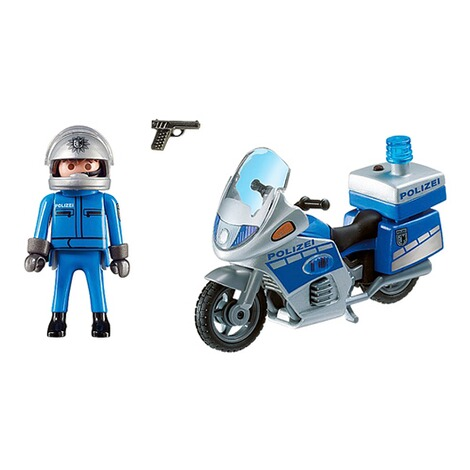 Playmobil®CITY ACTION6876 Motorradstreife mit LED-Blinklicht 2