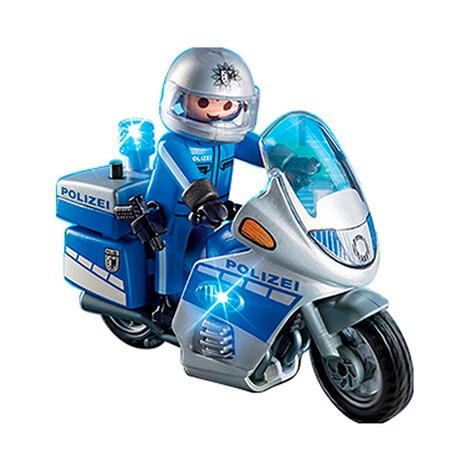 Playmobil®CITY ACTION6876 Motorradstreife mit LED-Blinklicht 3