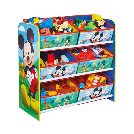 Worlds ApartDISNEY MICKEY MOUSE & FRIENDSAufbewahrungsregal + 6 Boxen 5
