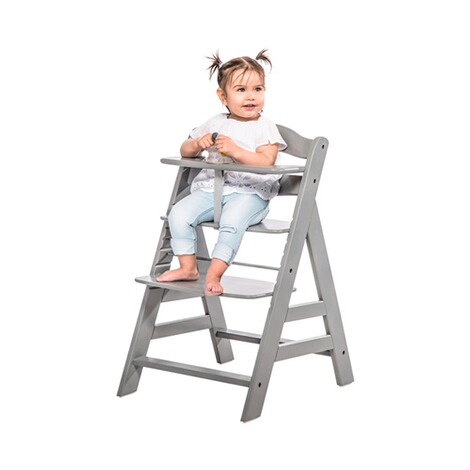 HauckTreppenhochstuhl Alpha+ inkl. Babywippe Alpha Bouncer 2in1  grey / stretch grey 15