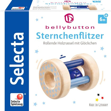 Selectabellybutton by SelectaRassel Sternchenflitzer aus Holz  blau 2