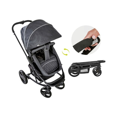 HauckPacific 4 Kombikinderwagen  Melange Charcoal 11