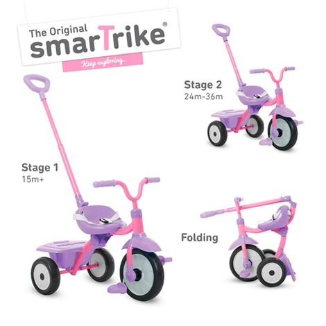 smarTrikeDreirad Folding Fun  pink 2