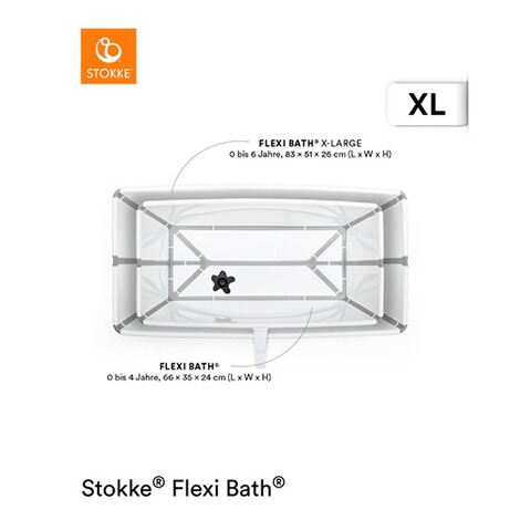 Stokke®FLEXIBATHBadewanne XL  white grey 3