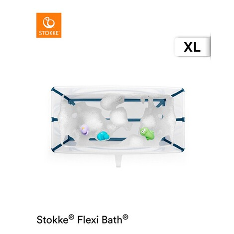Stokke®FLEXIBATHBadewanne XL  transparent blue 2