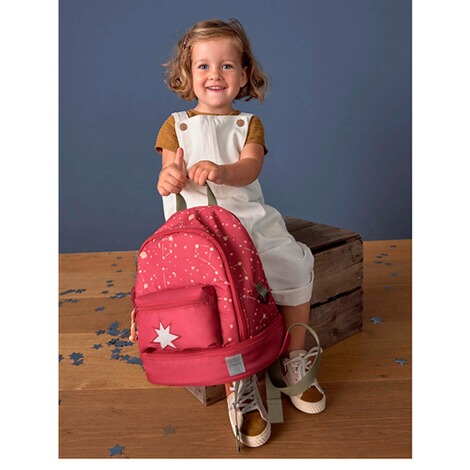 LässigKindergartenrucksack Mini Backpack Magic Bliss  dunkelrot 2