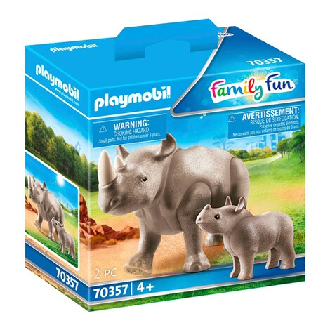 Playmobil®FAMILY FUN70357 Nashorn mit Baby 1