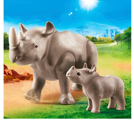 Playmobil®FAMILY FUN70357 Nashorn mit Baby 2