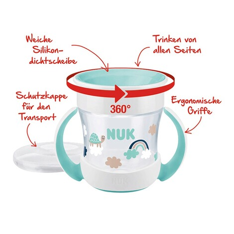 NUKTrinklernbecher Mini Magic Cup 160 ml  mint 3