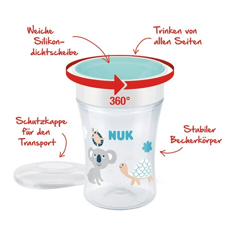 NUKTrinklernbecher Magic Cup 230 ml  mint 3