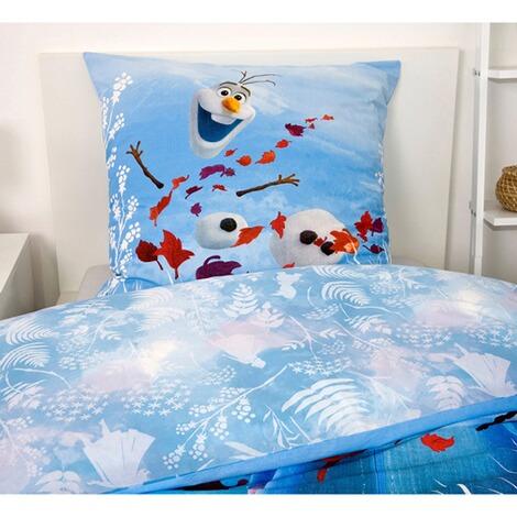 Frozen II Bettwäsche Set Spannbettlaken Decke Kissenhülle die Eiskönigin