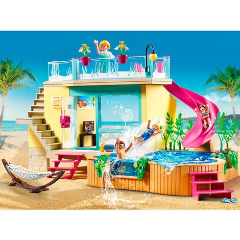 Playmobil®FAMILY FUN70435 Bungalow mit Pool 3