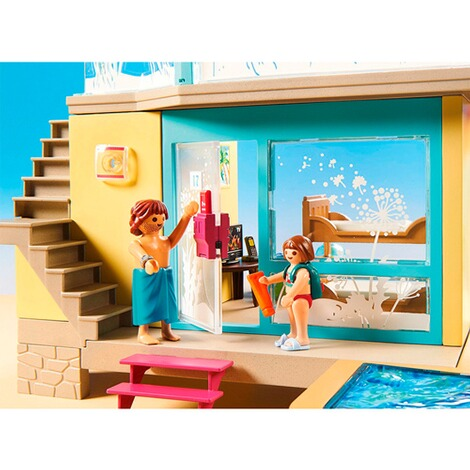 Playmobil®FAMILY FUN70435 Bungalow mit Pool 5