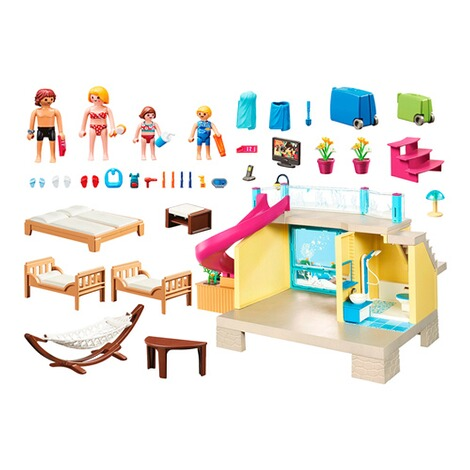 Playmobil®FAMILY FUN70435 Bungalow mit Pool 2