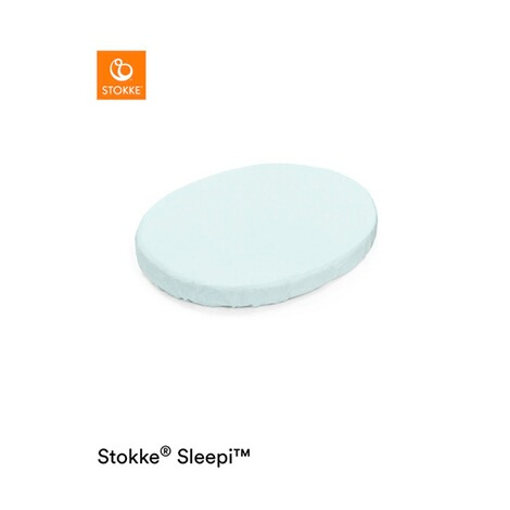 Stokke®SLEEPI™Spannbetttuch Sleepi Mini  Powder Blue 1
