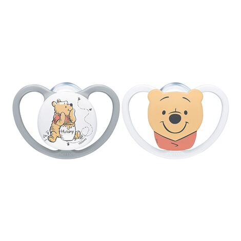 NUKDISNEY WINNIE PUUH2er-Pack Schnuller Space 0-6M 1