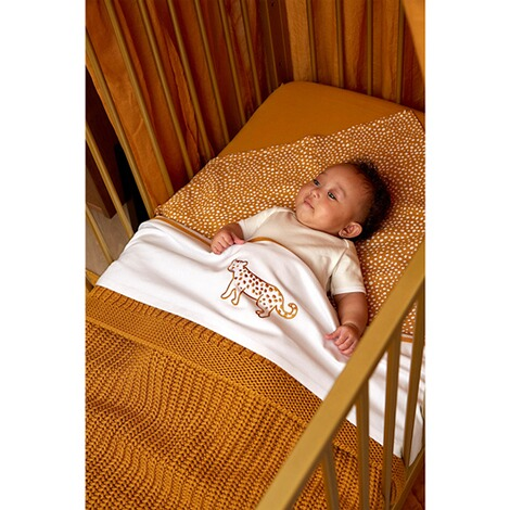 MeycoBabydecke Herringbone 100x150 cm  honey gold 3