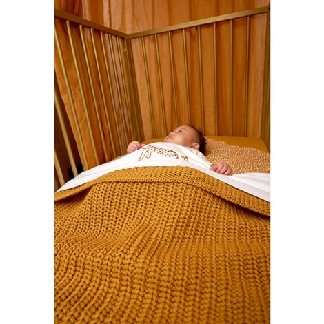 MeycoBabydecke Herringbone 100x150 cm  honey gold 4