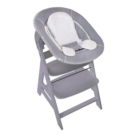 HauckTreppenhochstuhl Alpha+ inkl. Babywippe Alpha Bouncer 2in1  grey / stretch grey 3