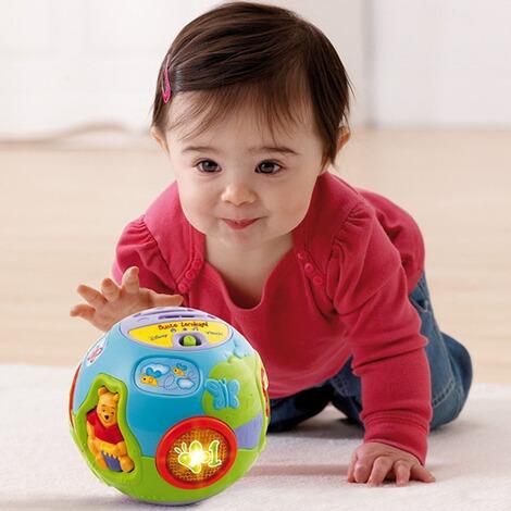vtech disney winnie puuh musikspielzeug bunte lernkugel online kaufen baby walz. Black Bedroom Furniture Sets. Home Design Ideas