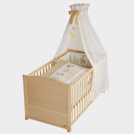 roba babybett mit ausstattung 70x140 cm online kaufen baby walz. Black Bedroom Furniture Sets. Home Design Ideas