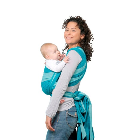 AMAZONAS  Babytragetuch Carry Sling 450cm  türkis 2