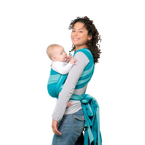 AMAZONASTREND LINEBabytragetuch Carry Sling 510cm  petrol/türkis 2