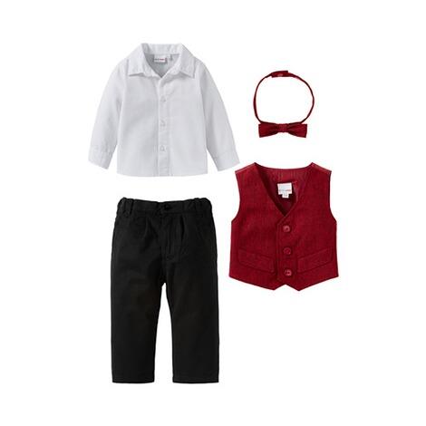 pretty nice e4294 570ef BORNINO Festliche Mode 4-tlg. Set Anzug mit Weste, Hemd, Hose und Fliege