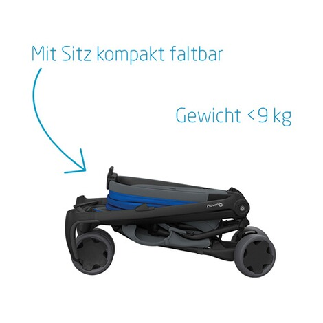 Quinny ZAPP FLEX Buggy mit Liegefunktion  Blue on Graphite 3