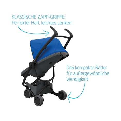 Quinny ZAPP FLEX Buggy mit Liegefunktion  Blue on Graphite 6
