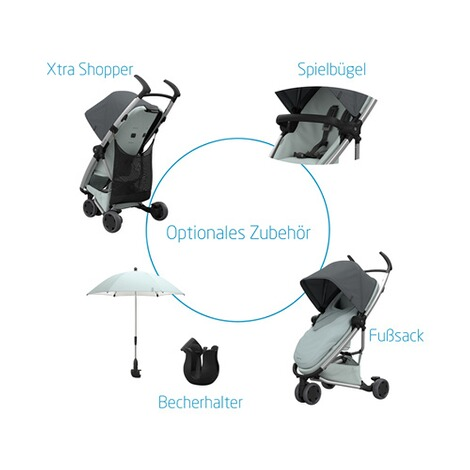Quinny ZAPP FLEX Buggy mit Liegefunktion  Blue on Graphite 9