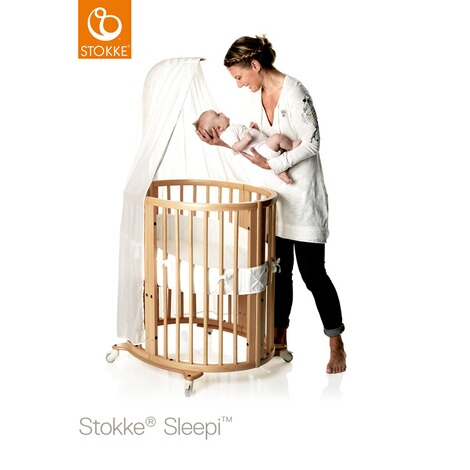 Stokke® SLEEPI™ Babybett mit Matratze Sleepi Mini (0 - 6 Monate)  Natural 3