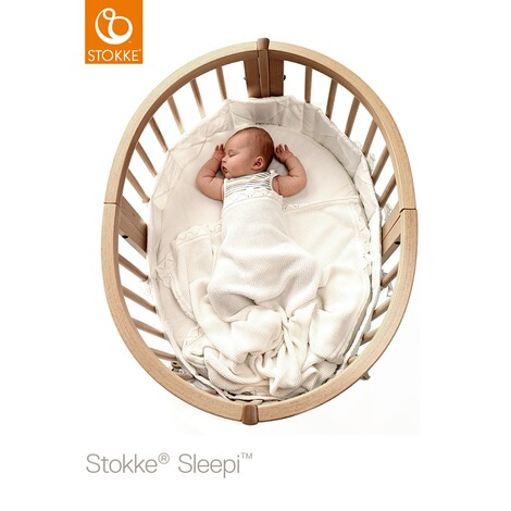 Stokke® SLEEPI™ Babybett mit Matratze Sleepi Mini (0 - 6 Monate)  Natural 2